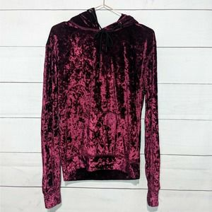 NWT LF Emma & Sam Crushed Velvet Hoodie Pullover